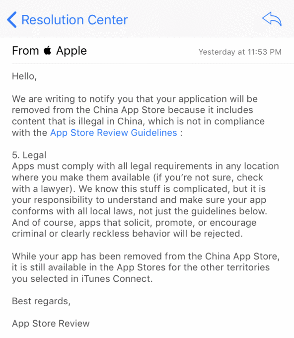 apple remove vpn apps