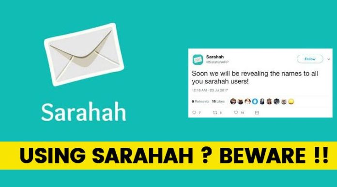 sarahah app steal data