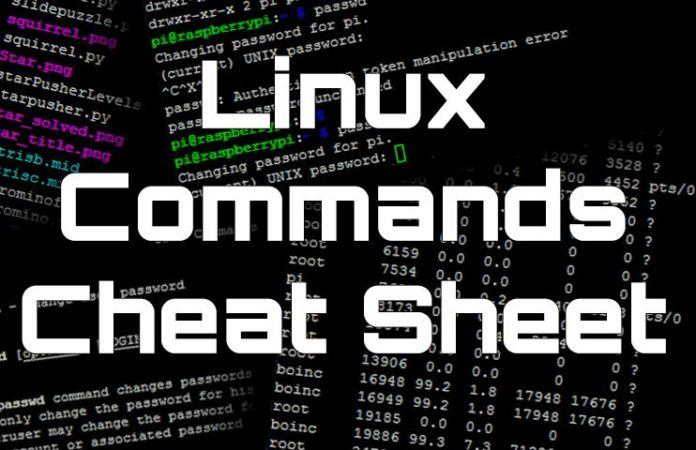 Kali Linux commands cheat sheet