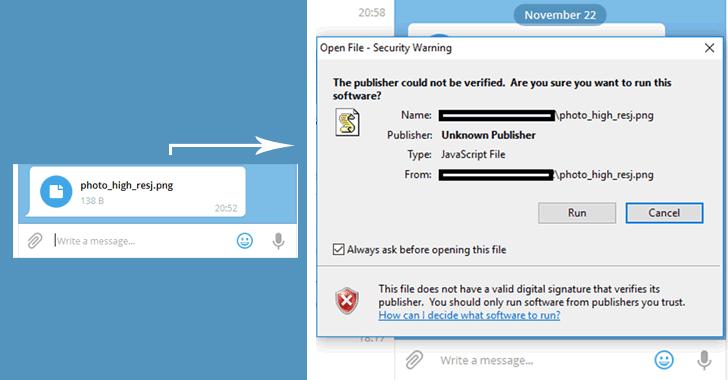 telegram messenger zero day flaw